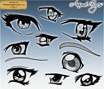 Кисти глаза в аниме