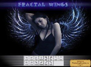 Кисти крылья фракталы