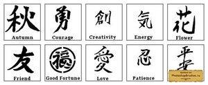 Кисти иероглифы
