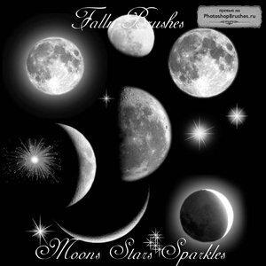 Кисти луна и звезды