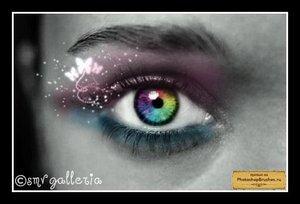 Кисти разноцветный глаз