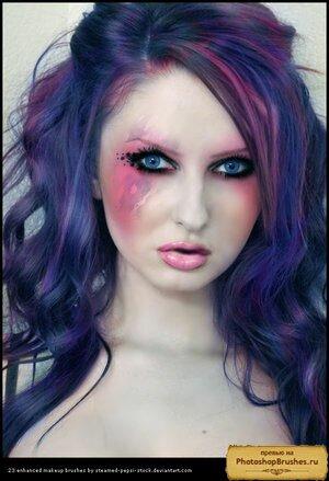 Кисти яркий макияж