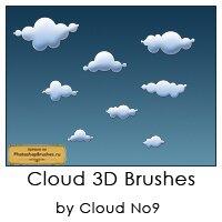 Кисти облака 3D