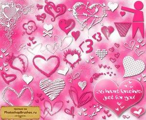 Кисти влюбленные сердца