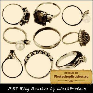 Кисти колечки и кольца для помолвки