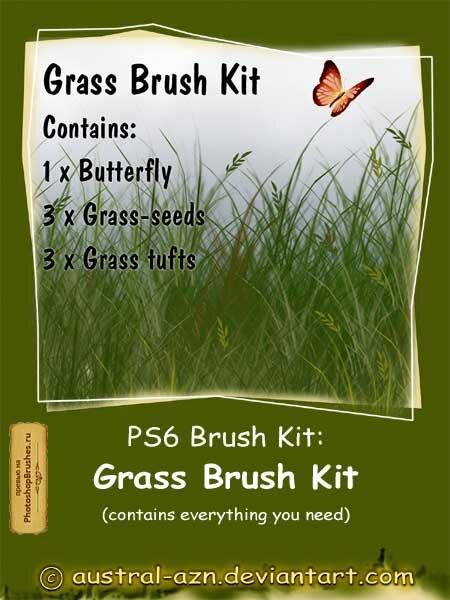 Кисти трава и бабочка