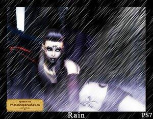 Кисти дождь в стиле аниме