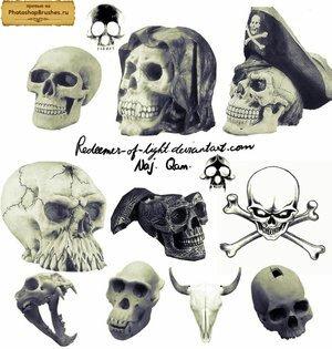 Кисти пиратские черепа