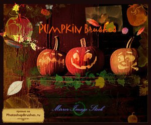 Кисти тыквы для Хеллоуина