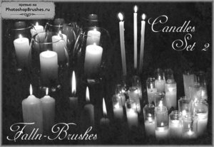 Кисти свечи и подсвечники